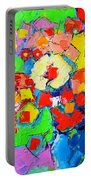 Abstract Colorful Flowers Portable Battery Charger