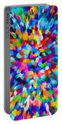 Abstract Colorful Splash Background 1 Portable Battery Charger
