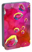 Abstract Colorful Water Drops Portable Battery Charger