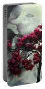 Abstract Contemporary Art Landscape Painting Modern Artwork Pink Passion By Madart Portable Battery Charger