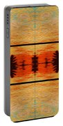 Abstract Cracker Tapestry Portable Battery Charger
