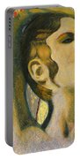 Abstract Cyprus Map And Aphrodite Portable Battery Charger