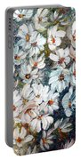 Abstract Daisy Remix  Portable Battery Charger