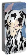 Abstract Dalmatian Portable Battery Charger