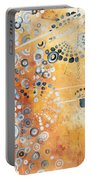 Abstract Decorative Art Original Circles Trendy Painting By Madart Studios Portable Battery Charger