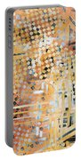 Abstract Decorative Art Original Diamond Checkers Trendy Painting By Madart Studios Portable Battery Charger