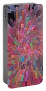 Abstract  Digital  Art Portable Battery Charger