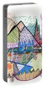 Abstract Drawing One Portable Battery Charger