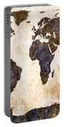 Abstract Earth Map Portable Battery Charger