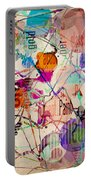 Abstract Expressionism Portable Battery Charger