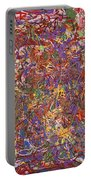Abstract - Fabric Paint - String Theory Portable Battery Charger by Mike Savad