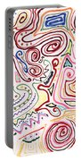 Abstract - Fabric Paint - Urban Society Portable Battery Charger by Mike Savad