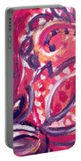 Abstract Floral Design Purple Note Portable Battery Charger