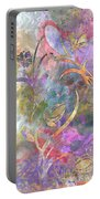 Abstract Floral Designe - Panel 1 Portable Battery Charger