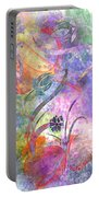 Abstract Floral Designe - Panel 2 Portable Battery Charger