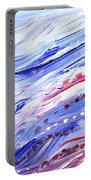 Abstract Floral Marble Waves Portable Battery Charger
