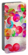 Abstract Floral  Portable Battery Charger by Mark Ashkenazi