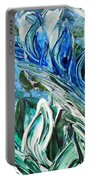 Abstract Floral Sky Reflection Portable Battery Charger