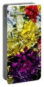 Abstract Flowers Messy Painting Portable Battery Charger