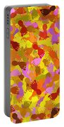 Abstract Footprints Portable Battery Charger