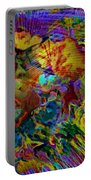 Abstract Fronds In Jewel Tones - Square Portable Battery Charger