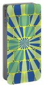 Abstract Geometric Blue Portable Battery Charger
