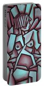Abstract Girl  Portable Battery Charger