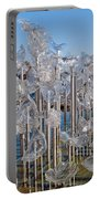 Abstract Glass Art Sculpture Portable Battery Charger