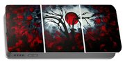 Abstract Gothic Art Original Landscape Painting Imagine By Madart Portable Battery Charger