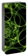 Abstract Green Light Fractal Portable Battery Charger