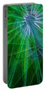 Abstract Green Lights Portable Battery Charger