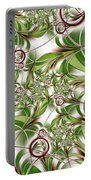 Abstract Green Plant Portable Battery Charger