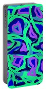 Abstract Green Purple Blue Portable Battery Charger