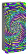 Abstract Hypnotic Portable Battery Charger by Kenny Francis