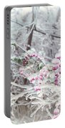 Abstract Ice Covered Shrubs Portable Battery Charger