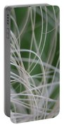Abstract Image Of Tropical Green Palm Leaves  Portable Battery Charger