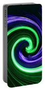 Abstract In Green And Purple Portable Battery Charger