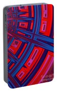 Abstract In Red And Blue Portable Battery Charger