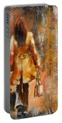Abstract Lady  5 Portable Battery Charger