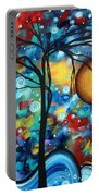 Abstract Landscap Art Original Circle Of Life Painting Sweet Serenity By Madart Portable Battery Charger