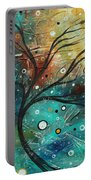 Abstract Landscape Art Original Colorful Heavy Textured Painting Cracked Facade By Madart Portable Battery Charger