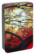 Abstract Landscape Art Original Painting Where Dreams Are Born By Madart Portable Battery Charger