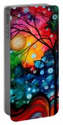 Abstract Landscape Colorful Contemporary Painting By Megan Duncanson Brilliance In The Sky Portable Battery Charger by Megan Duncanson