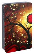 Abstract Landscape Glowing Orb By Madart Portable Battery Charger