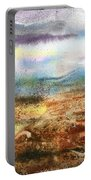 Abstract Landscape Morning Mist Portable Battery Charger