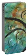 Abstract Landscape Painting Digital Texture Art By Megan Duncanson Portable Battery Charger