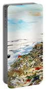 Abstract Landscape Untitled Portable Battery Charger