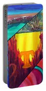 Abstract Landscapes Portable Battery Charger