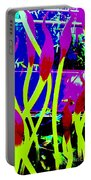 Abstract Lavender  Portable Battery Charger