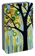 Abstract Modern Tree Landscape Spring Rain By Amy Giacomelli Portable Battery Charger